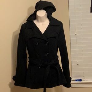 Black Double Breasted Warm Jacket